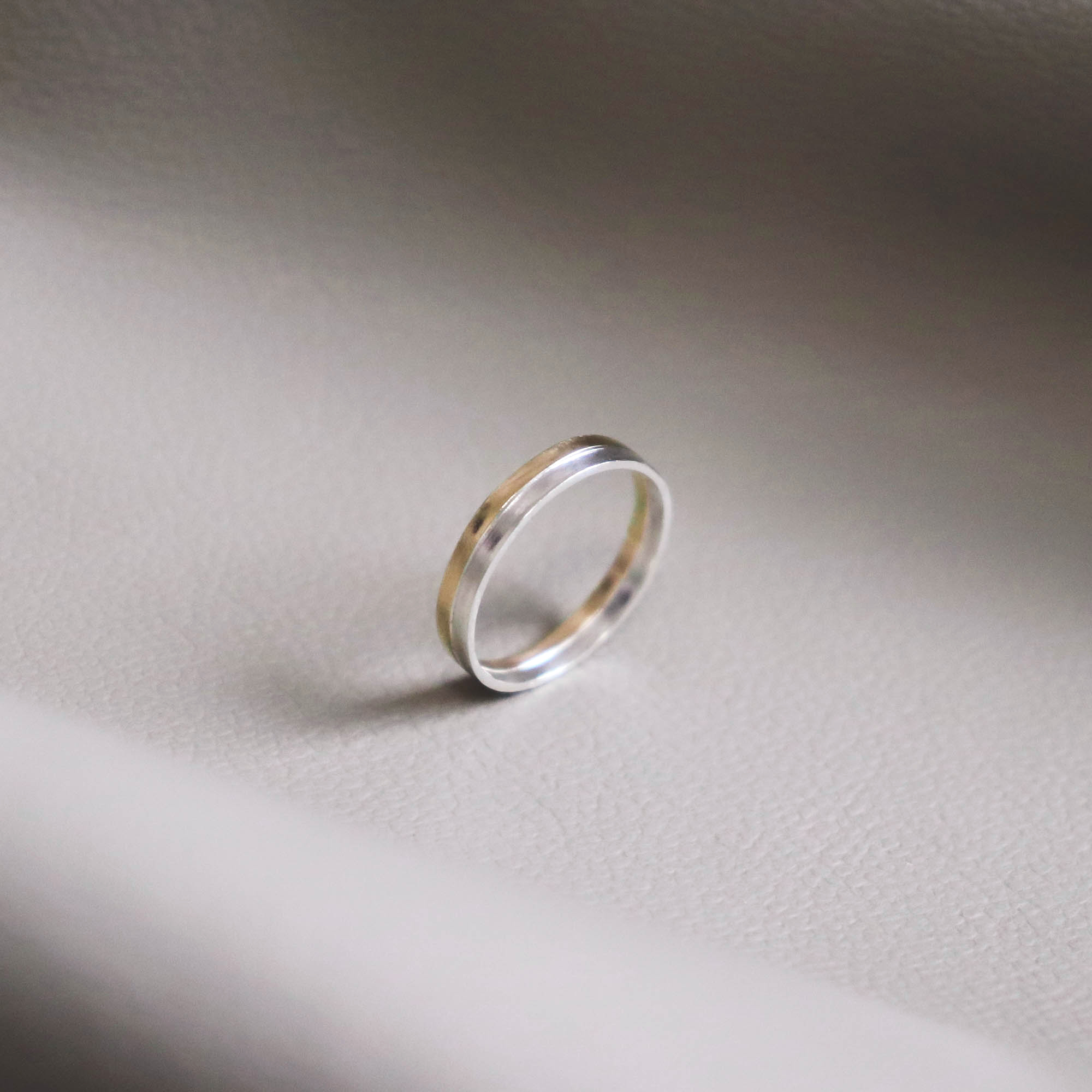 Copy of two tone wedding band ring -studiocosette