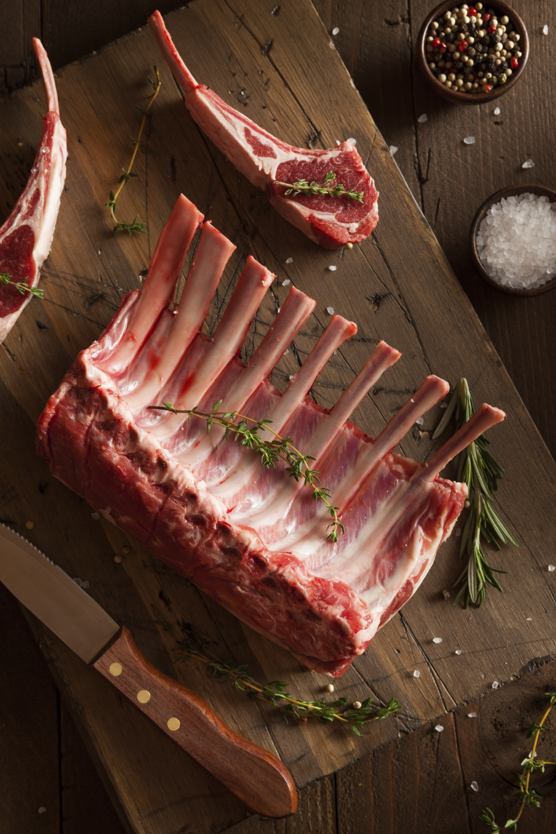 LAMB RACK - Our grass fed lamb is ethically raised and comes from locally in Western Australia. This is an amazingly succulent and tender cut, renowned for its rich flavour and presentable appearance when served. Traditionally it is roasted whole or cut into cutlets.