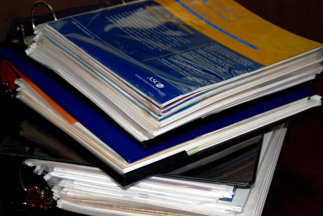 - Less than 10 years ago all my samples were in binders like this.