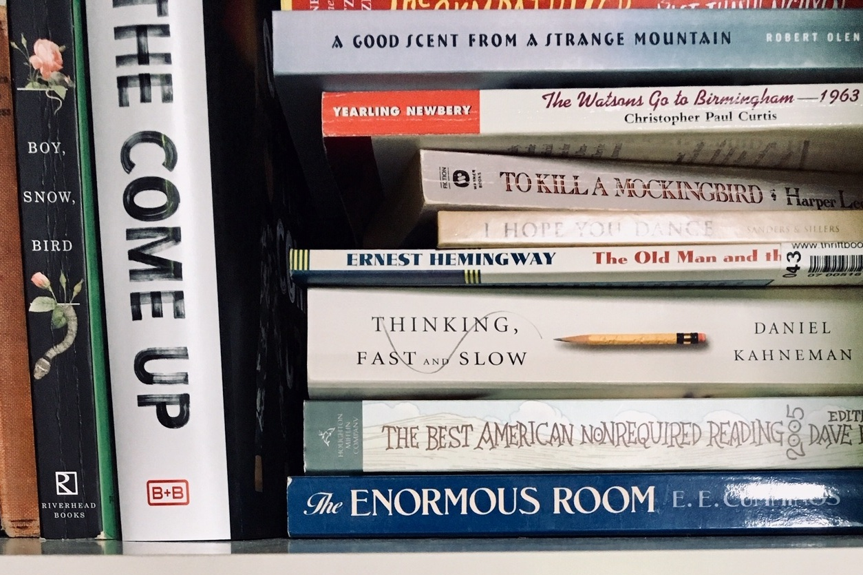A sample from one of my office bookcases.