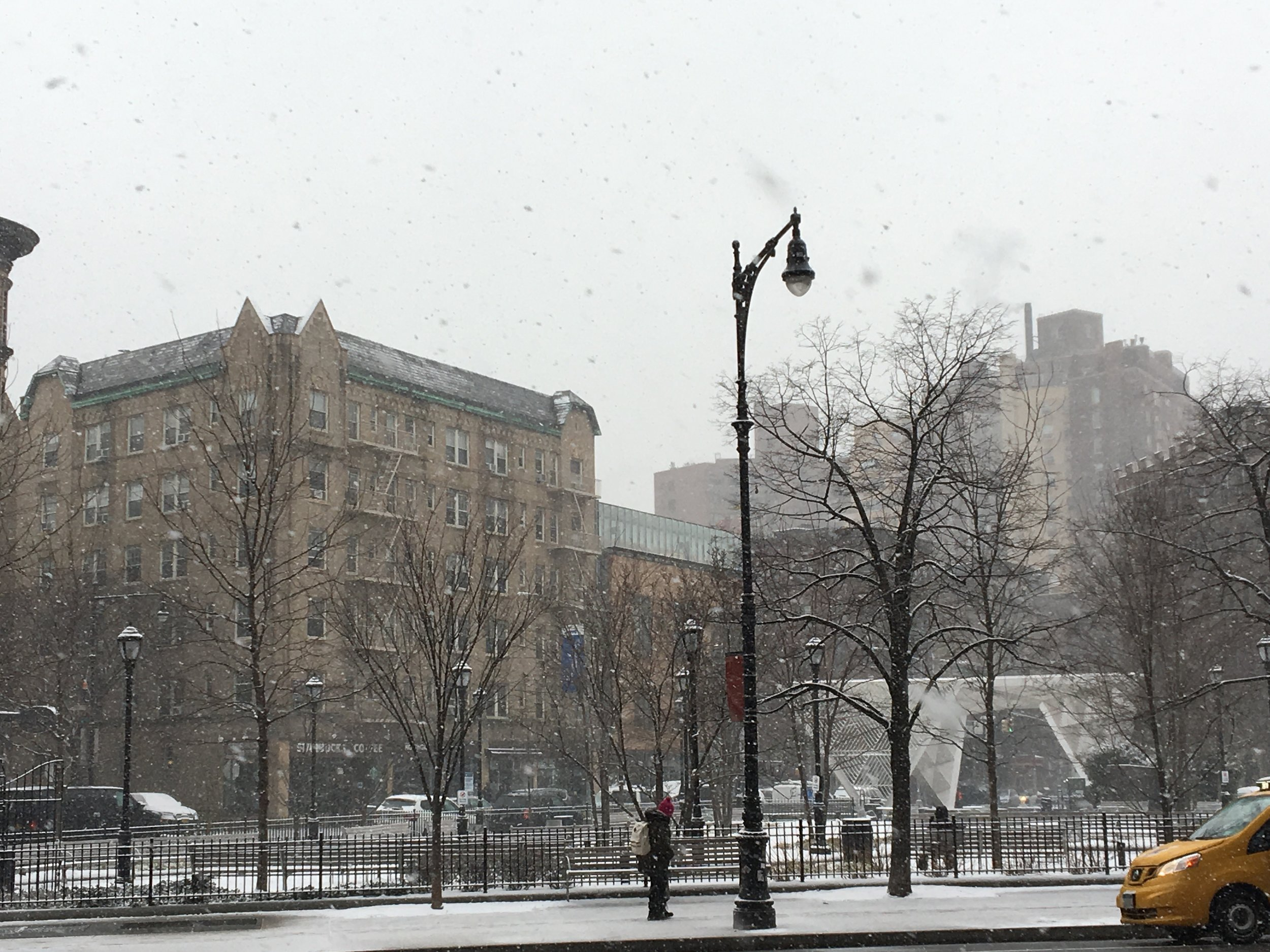 Surprise snow day in Soho