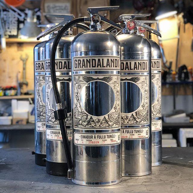 Grandalandi x KROTKRASS Limited Edition 9L Fire Extinguishers  Collaboration with @ingikristjan  #grandalandi #ásmundarsalur #krotkrass