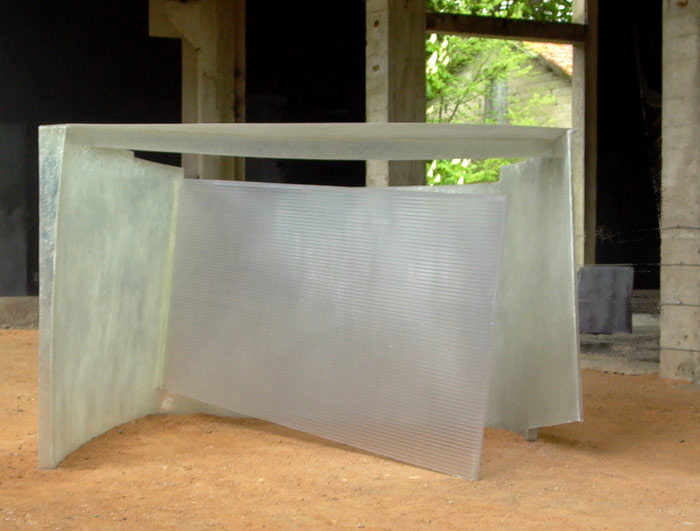 Blank .  2010  Polyester & polycarbonate. Dimensions: 140 x 240 x 225 cm