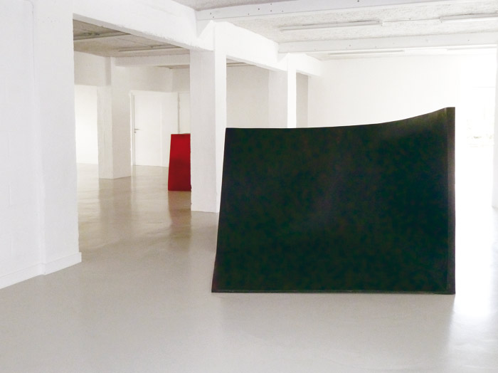 For Y S . La litre. 2012                                                                               Epoxy resin & basalt fabrics. Dimensions: 145 x 300 x 212 cm