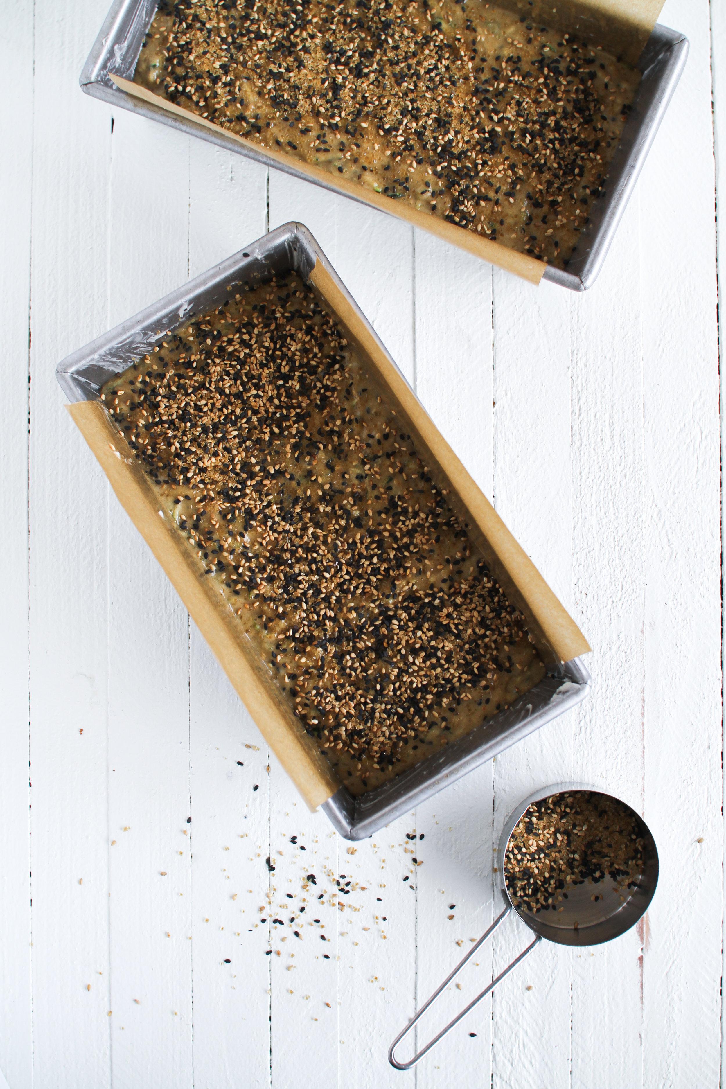 Miso & Tahini Summer Zucchini Bread with whipped mascarpone & honey by Fox and Crane - foxandcrane.com