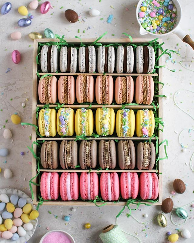 Happy Friday! The official start of the Easter baking season has begun and @cloudykitchen and I thought we'd do what we do best: the Ultimate Easter Macaron Box! — Full disclosure, I rarely eat macarons anymore other than tasting them as we create the recipes. Haha! So I always give them as gifts, and with this box, I knew exactly who was getting these: my 3yr old neighbor Oliver! I now think he thinks that I'm the Easter Bunny and I'm not mad at that 🐰🤣 — Link in bio for recipes! . . . . . #foxandcrane #thebakefeed #bakefromscratch @thebakefeed #feedfeed @thefeedfeed.baking @thefeedfeed #forkyeah #buzzfeedfood #gloobyfood #spoonfeed #tastingtable #foodandwine #buzzfeast #kitchenbowl #marthafood #imsomartha @marthastewart #lovefood @love_food @food #thesugarfiles #bareaders #thekitchn #foodblogfeed @food52 #f52grams #f52 #saveurtraditions @saveurmag #sweetlife #baking101 #eastercookies #macaronstagram #flatlaytoday @flatlaytoday #huffposttaste @huffposttaste #macarons #easterbasket