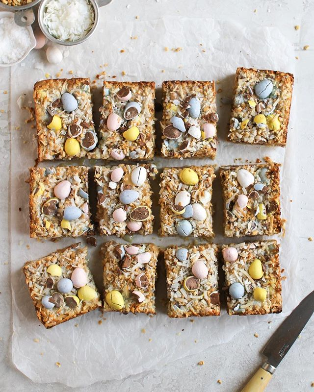 "How do you make Cadbury mini eggs even more magical than they already are? ....Mini Egg Magic Bars!! (or as @cloudykitchen calls them: ""Holy $h!t bars""). These are seriously a Easter baking must — Link in bio for recipe! . . . . . #foxandcrane #thebakefeed #bakefromscratch @thebakefeed #feedfeed @thefeedfeed.baking @thefeedfeed #forkyeah #buzzfeedfood #gloobyfood #spoonfeed #tastingtable #foodandwine #buzzfeast #kitchenbowl #marthafood #imsomartha @marthastewart #lovefood @love_food @food #thesugarfiles #bareaders #thekitchn #foodblogfeed @food52 #f52grams #f52 #saveurtraditions @saveurmag #sweetlife #baking101 #eastercookies #cadburyminieggs @cadburyusa @cadburyworlduk #flatlaytoday @flatlaytoday #huffposttaste @huffposttaste #easter"