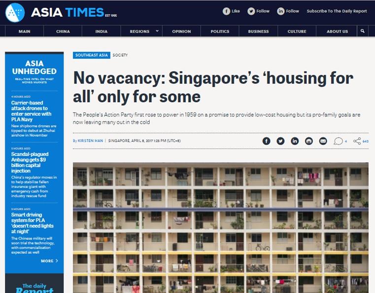 Asia Times, 8 April 2017