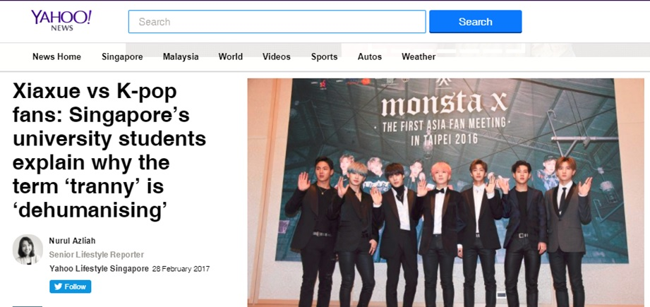 Yahoo News, 28 February 2017