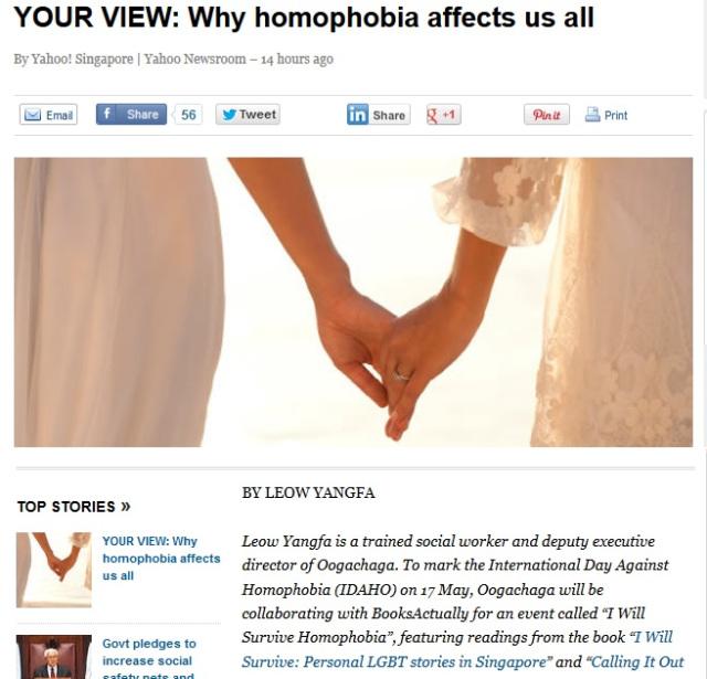 Yahoo News, 17 May 2014