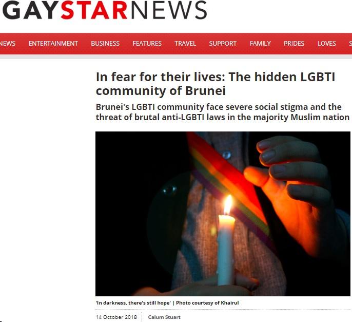 Gay Star News, 14 October 2018