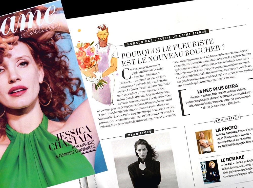 """""""LE NEC PLUS ULTRA"""" Elle Magazine, Janvier 2018."""