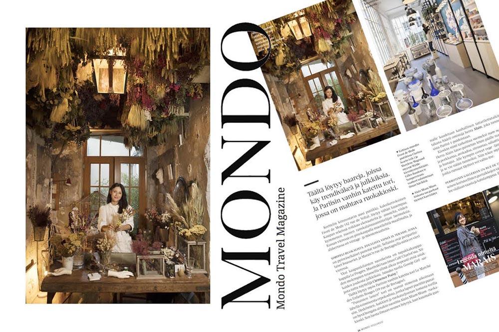 Découverte des artisanats du Marais par le magazine Mondo, Décembre 2017.