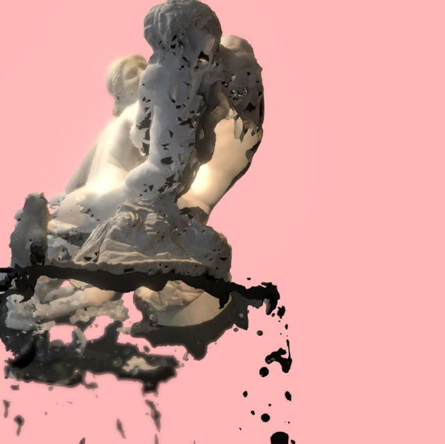 """3D model of """"Satyr and Hermaphrodite"""" (1st-2nd century AD), a Hellenistic inspired work replicated throughout Ancient Rome, modelled on a piece housed at the Ashmolean Museum, Oxford.  Model by Sterling Mackinnon. . . . #dvc#digitalheritage#dvcultural#virtualarchaeology #digitalhistory#digitalart"""