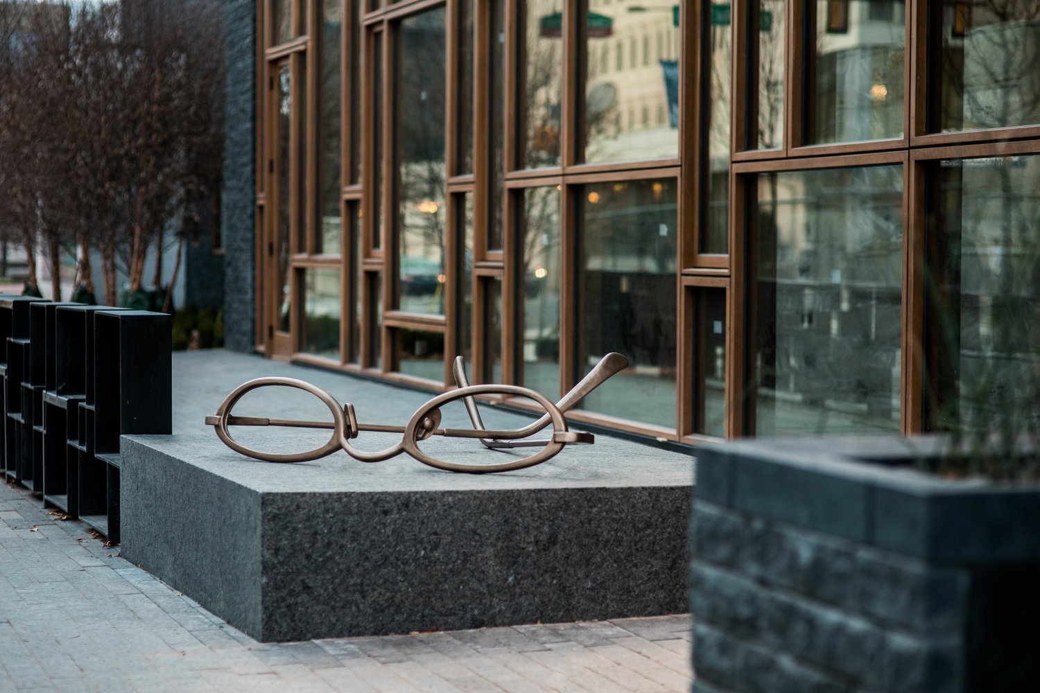 Exterior - Iconic Reading Glasses, The Study at University City
