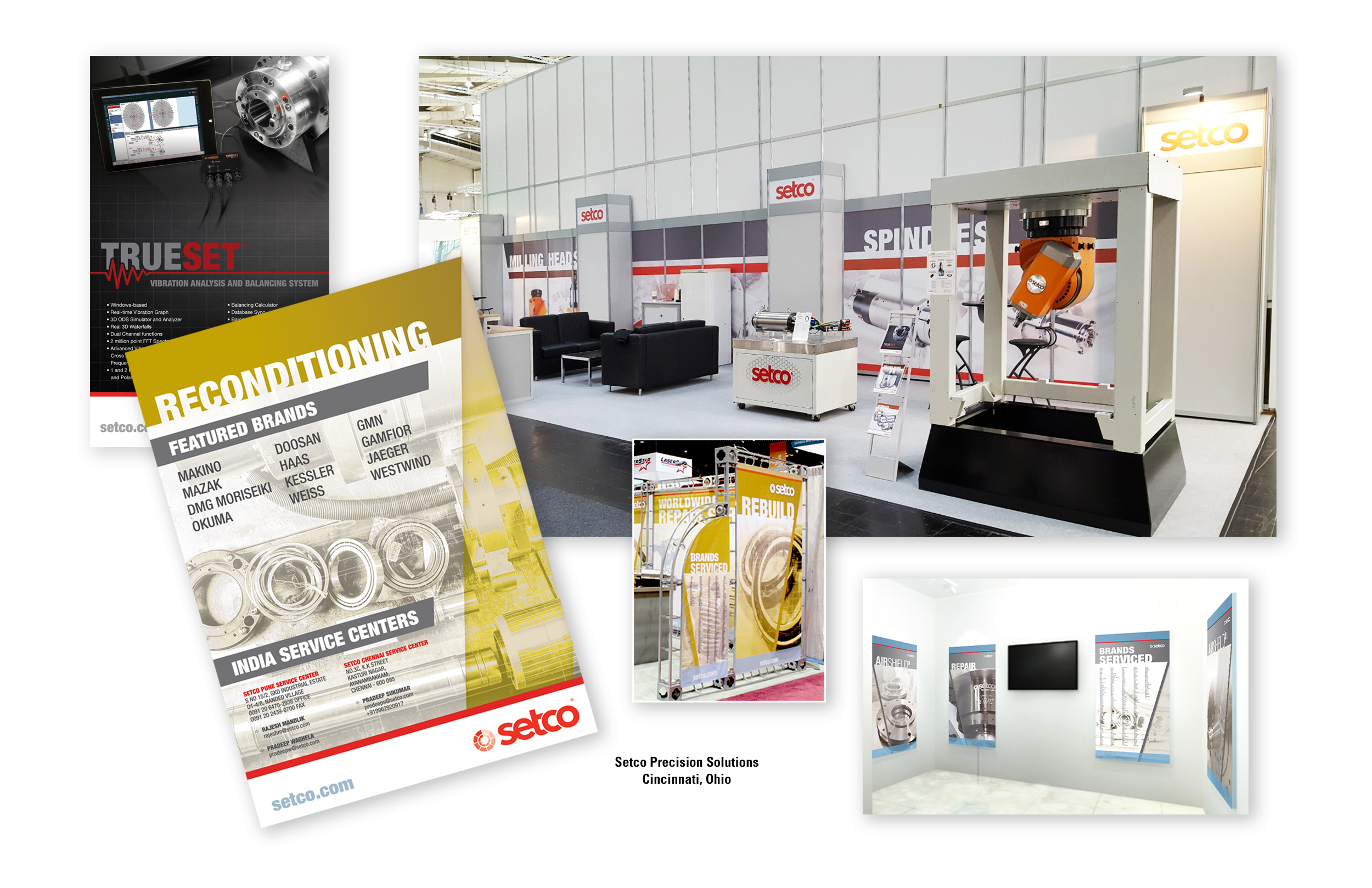 Tradeshow Design and Pamphlets for Setco