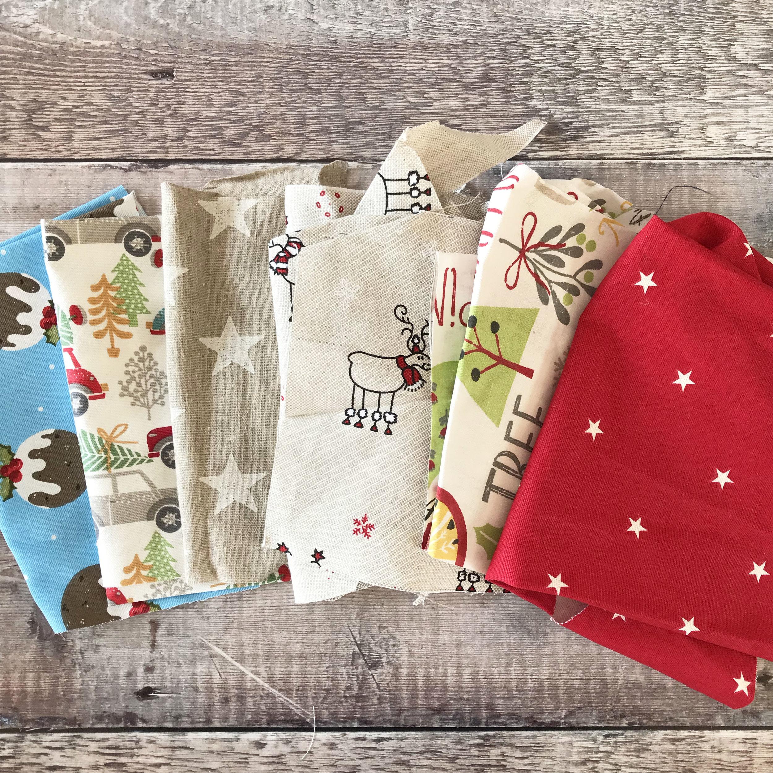 Fabric Scraps Christmas Ticketty Boo