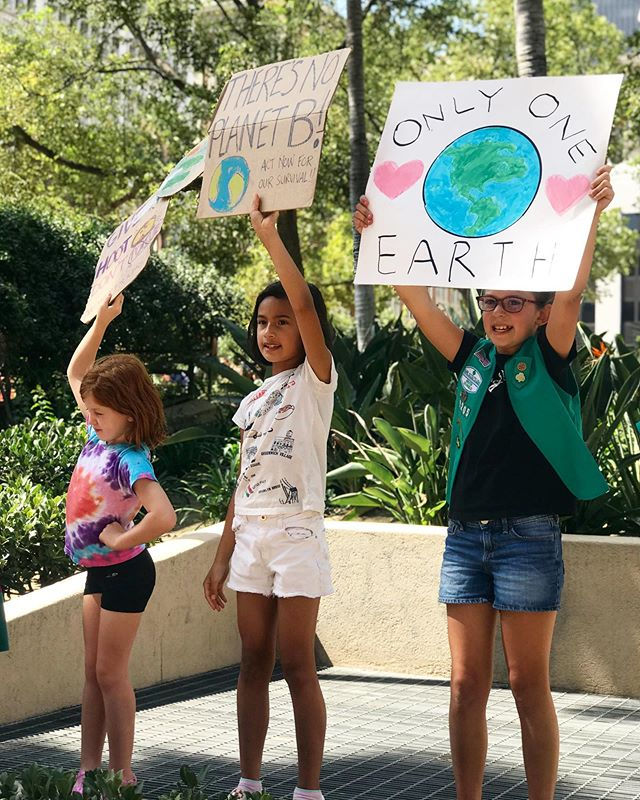 Earth might just have a chance thanks to them ❤️ #climatestrike