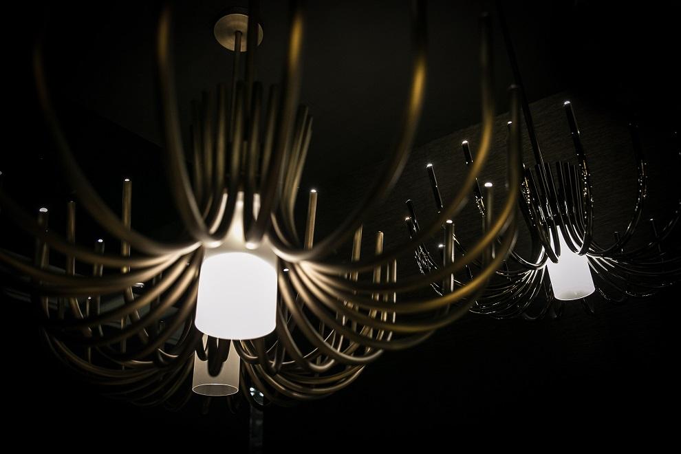 STARDUST chandelier disegnato da Marcello Colli e Maurizio Di Mauro per Contardi Lighting