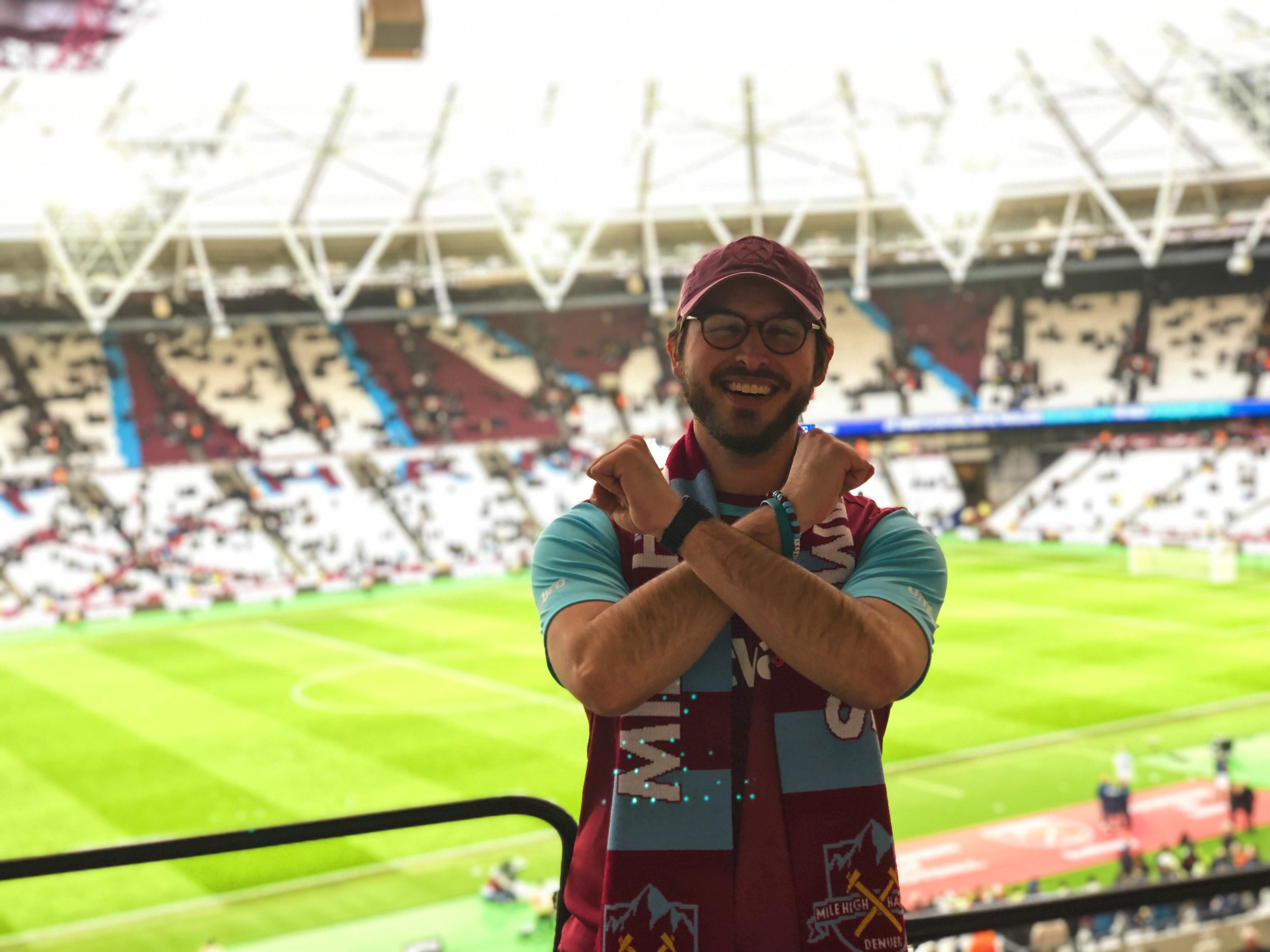 Nick at his first trip to the London Stadium in 2019.