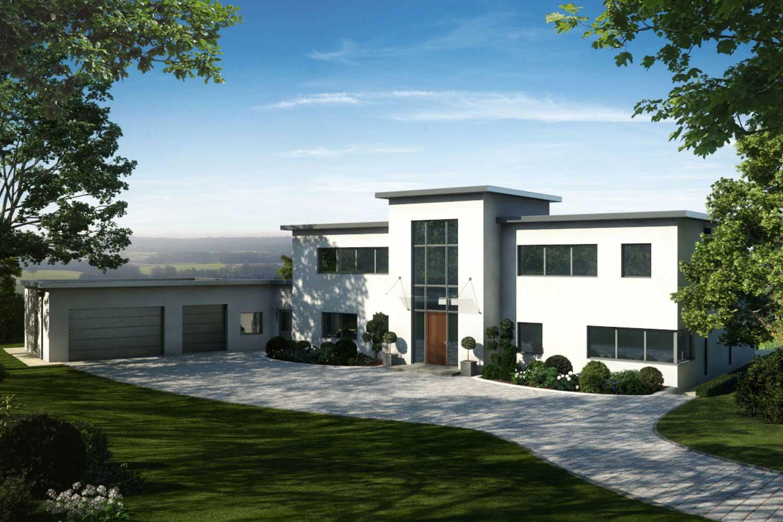 Property CGI of a modern house