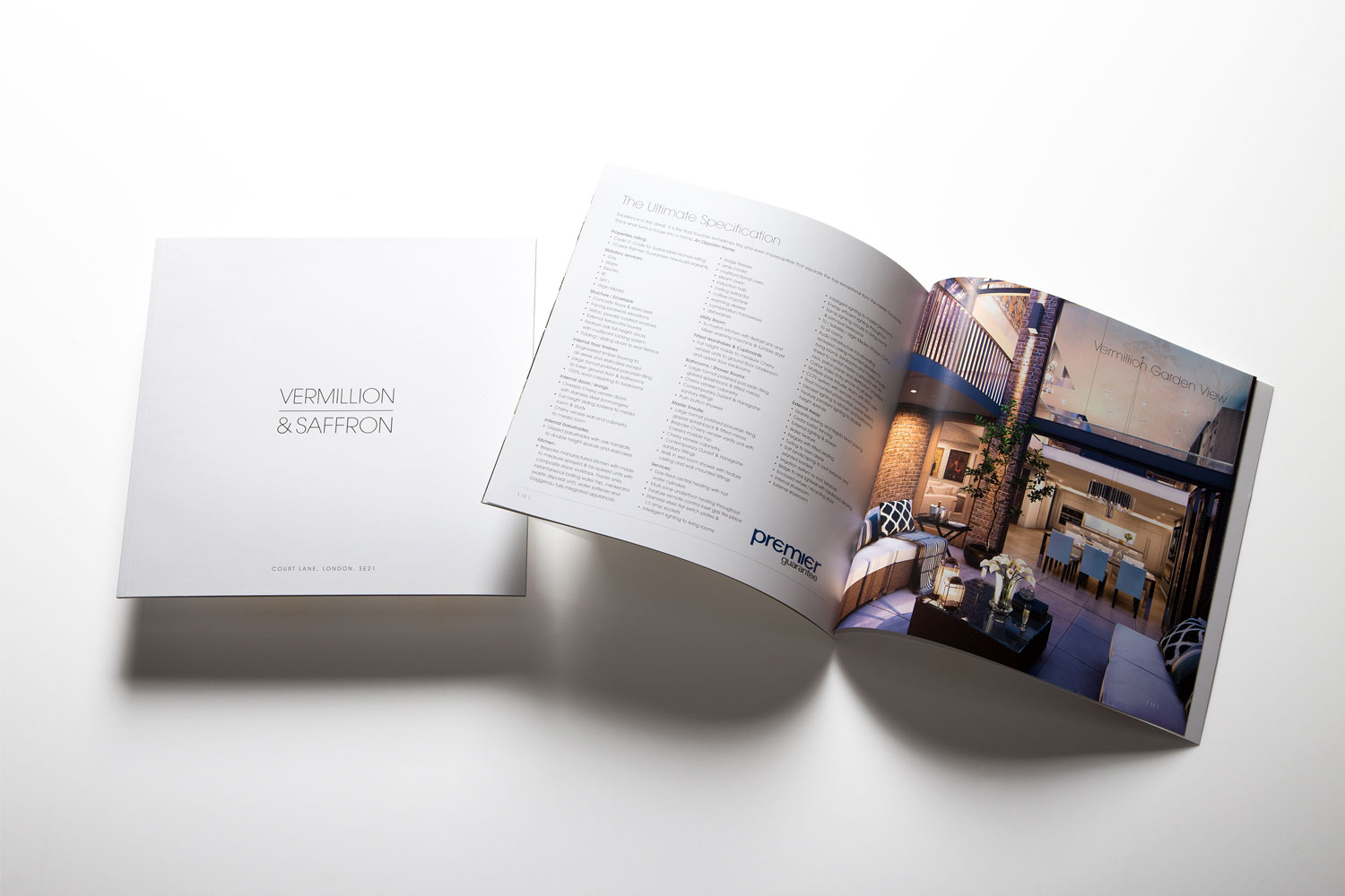Property brochure for a contemporary new home