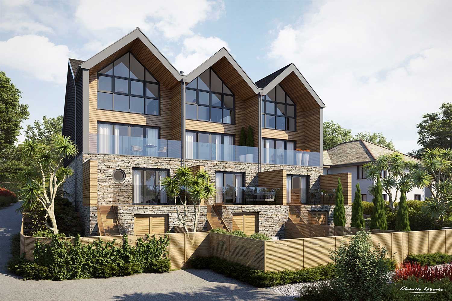 Property CGI of the townhouses