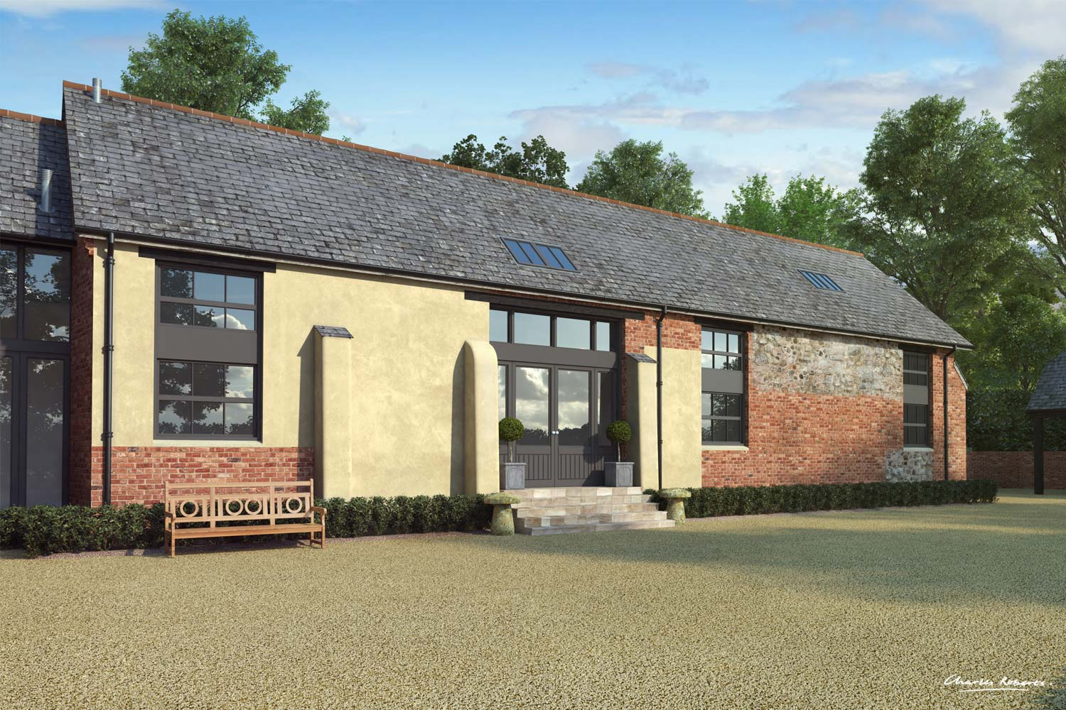 Artists impression of the proposed barn conversion