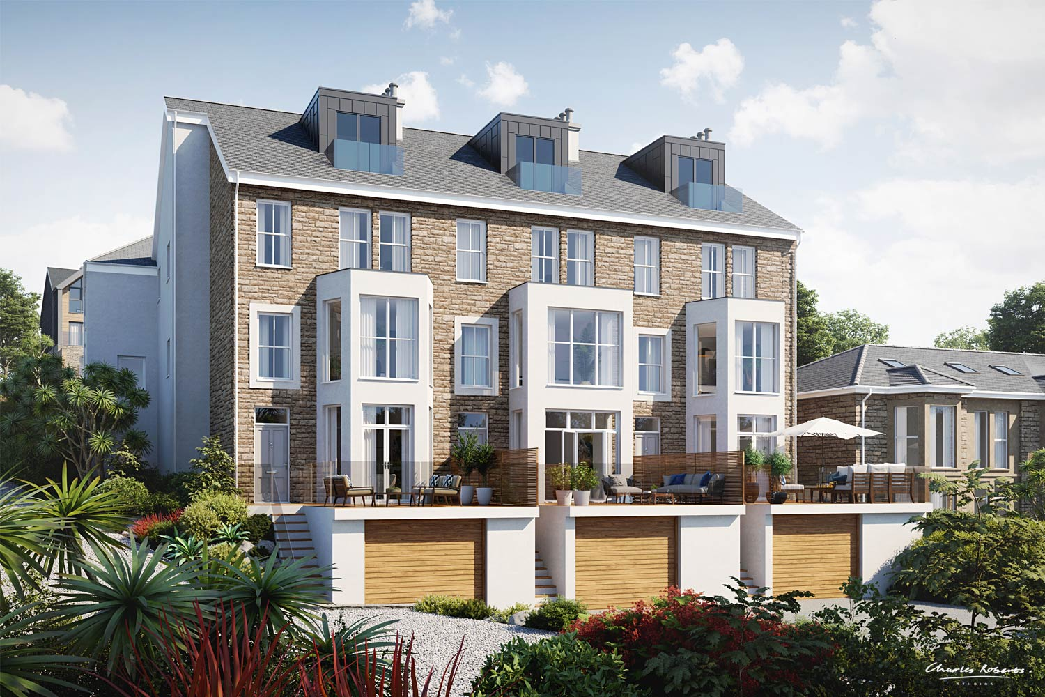Artist impression of the hotel conversion and redevelopment