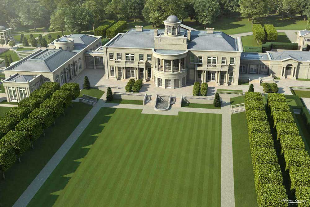 Artist impression of the garden of Windlesham House