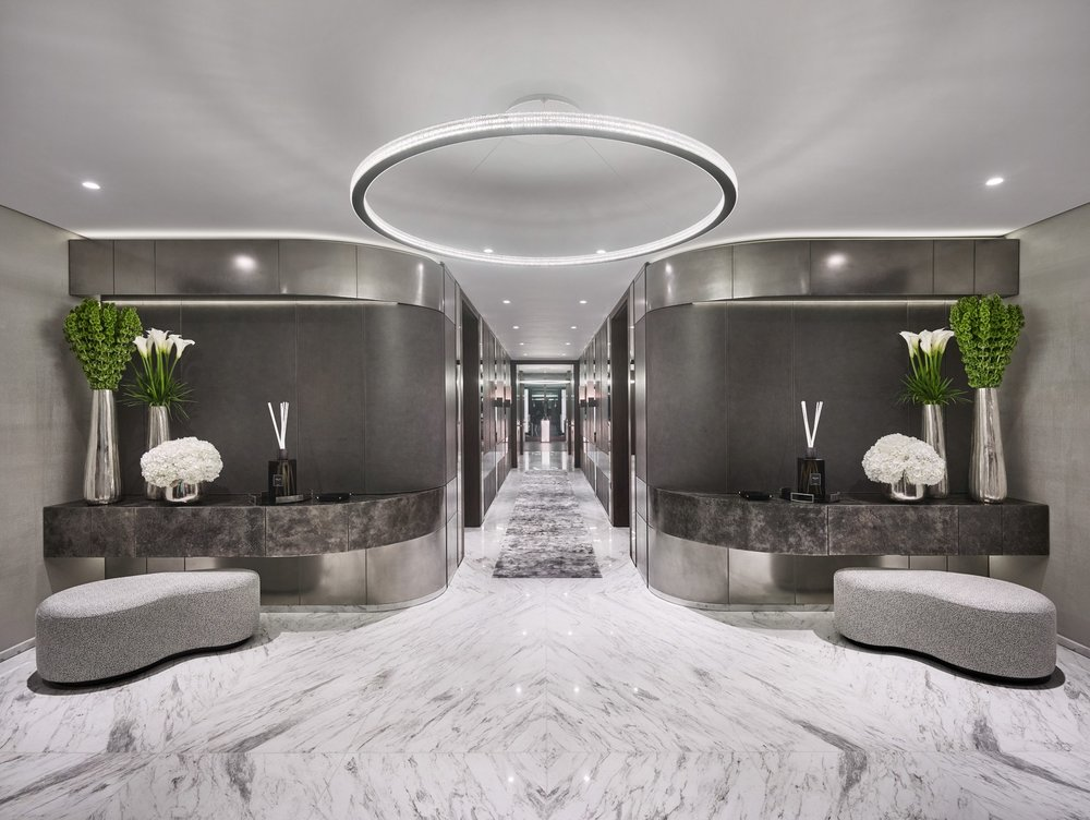 Photo of the actual completed foyer interior design