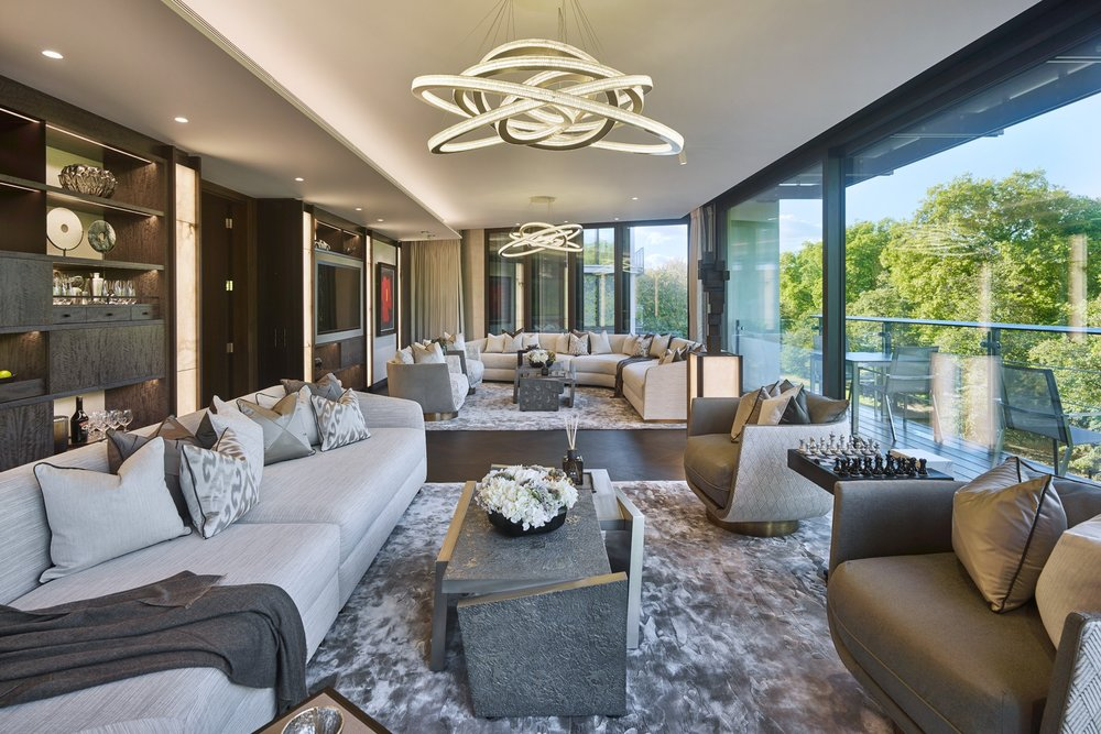 Photo of completed sitting room interior design