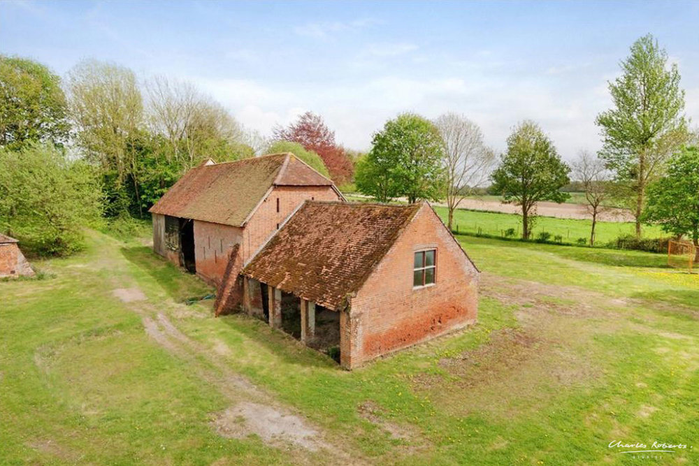 Photo of barn before conversion