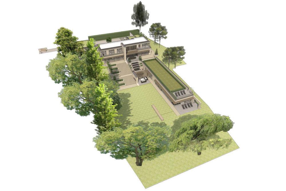 Architect's site sketch