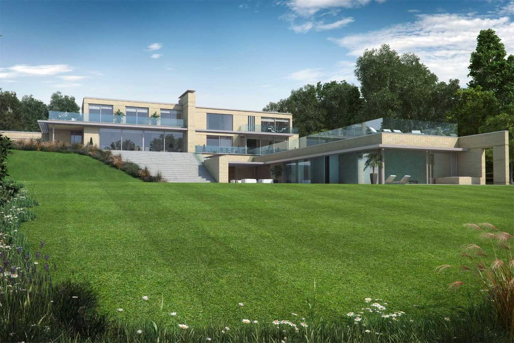 Architectural visualisation modern house by Charles Roberts Studios