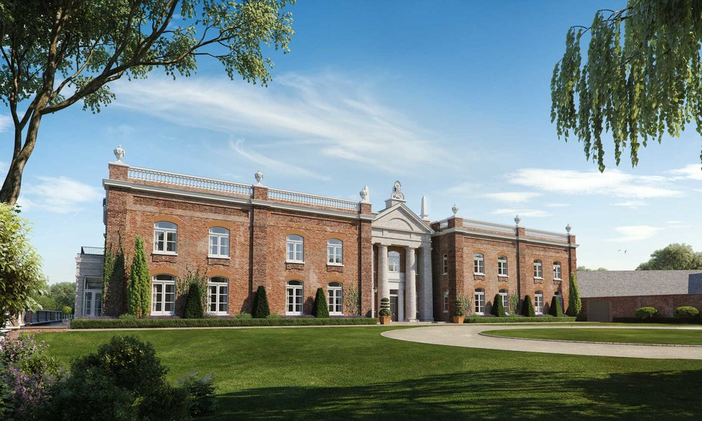 Property CGI new country house by Robert Adam