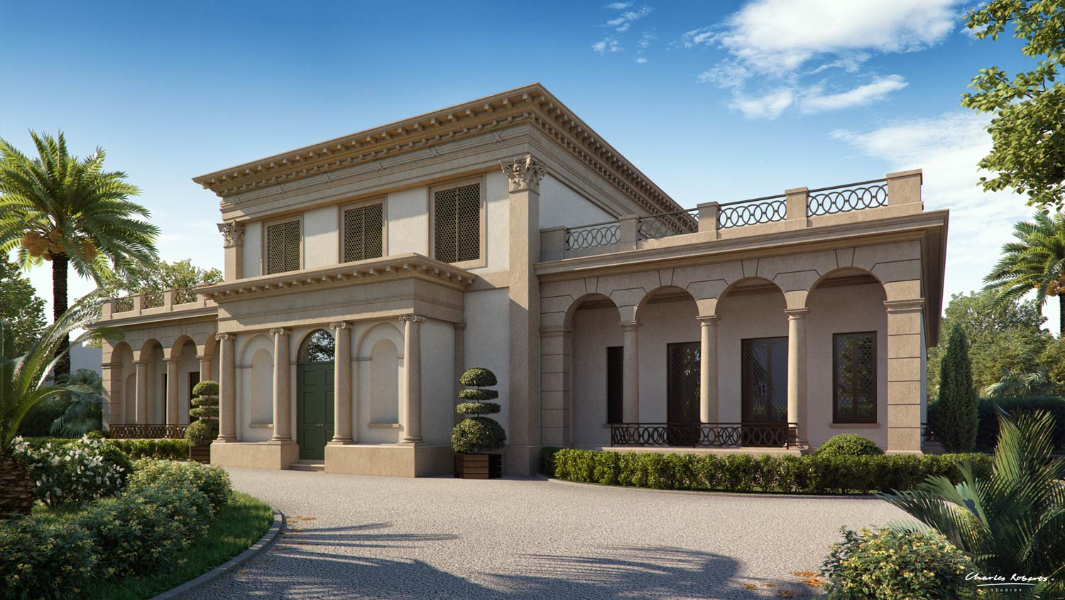 3d visualisation of the front elevation