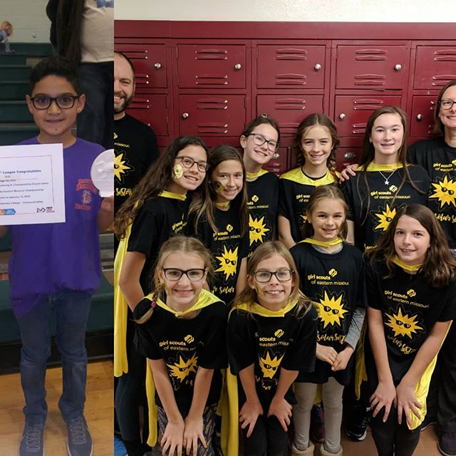 Today, we want to take a minute to brag about some of our graduates. Last weekend, 8 of our graduates competed in First Lego League qualifiers. Both teams advanced to the Eastern Missouri regional competition! We are going to go ahead and take all the credit for instilling in them a passion for learning and challenging themselves. 😂