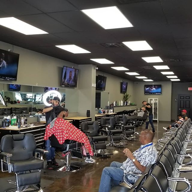 We have several talented barbers that do full service and airbrush edge-ups. Book them ASAP.