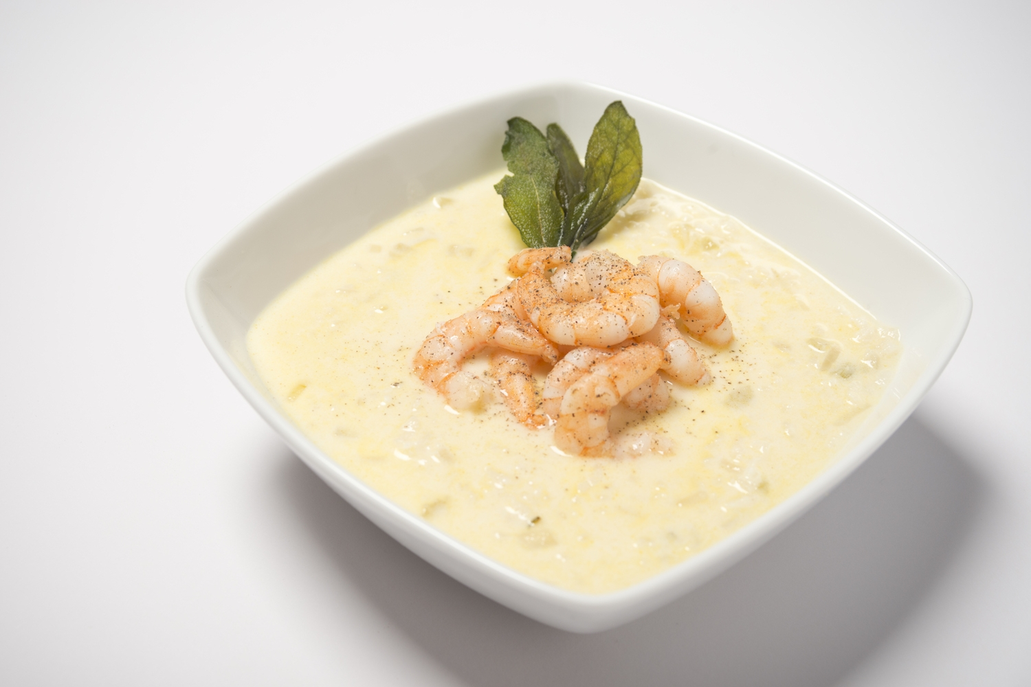 fabulously-creamy prawn risotto soup -