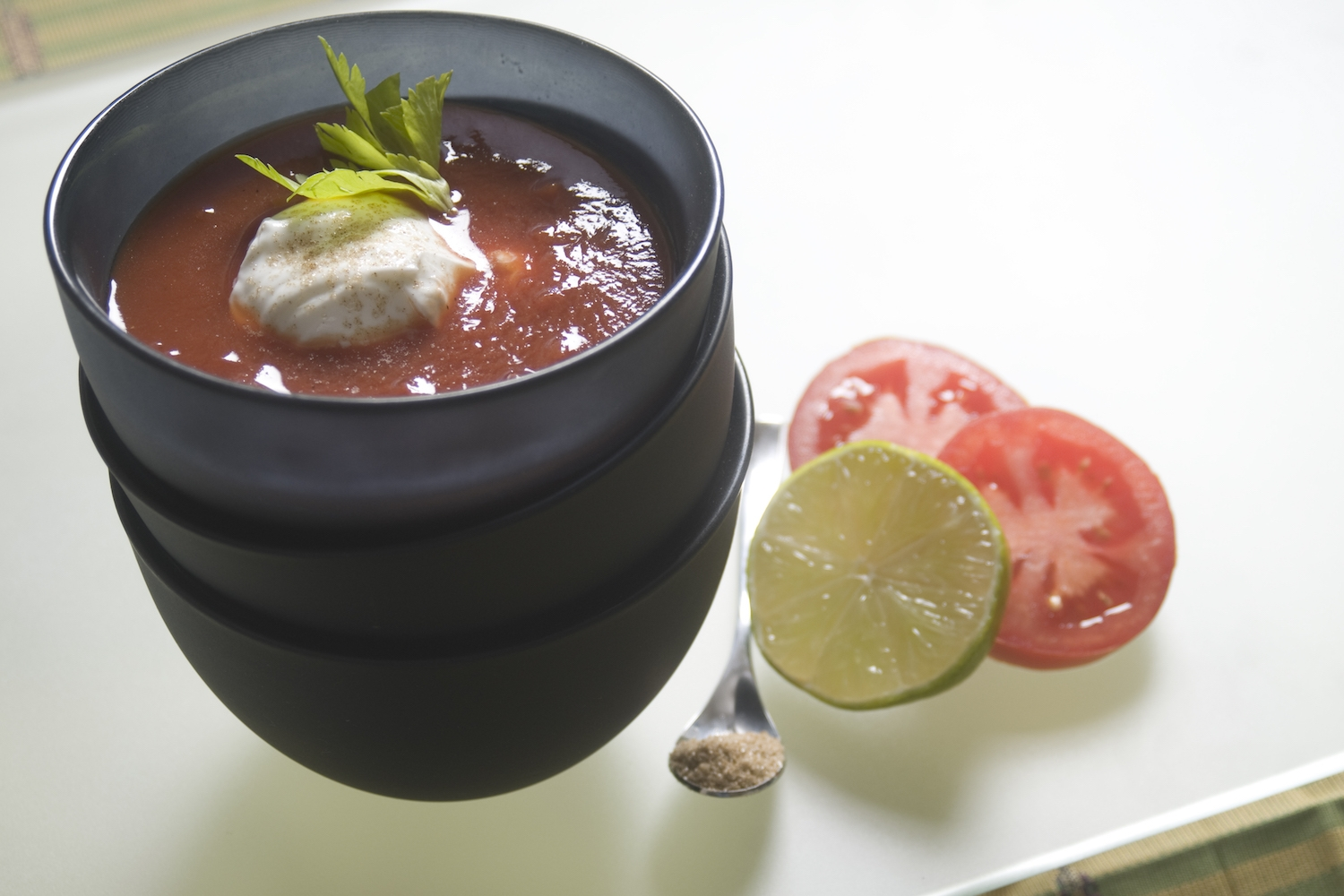 very quick tomato soup with balsamic -