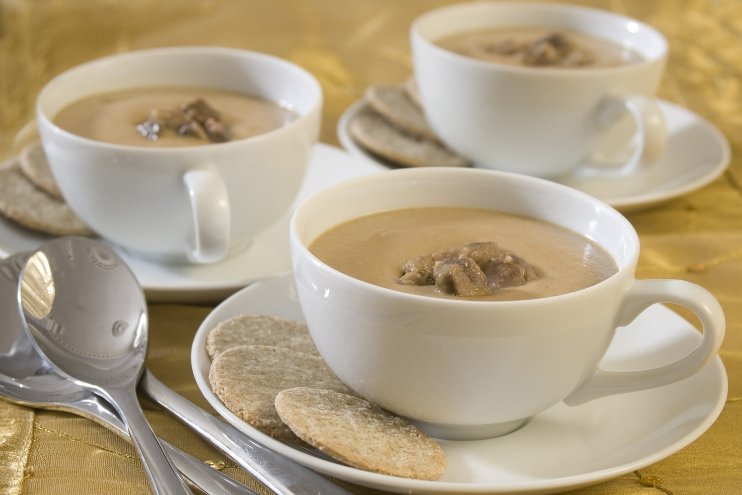 kidney soup with beef shin and root vegetables -