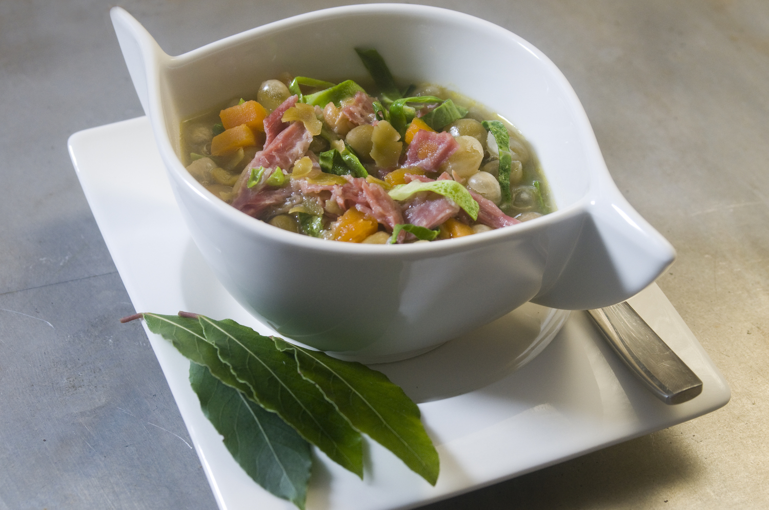 pea and ham soup with a few little extras! -