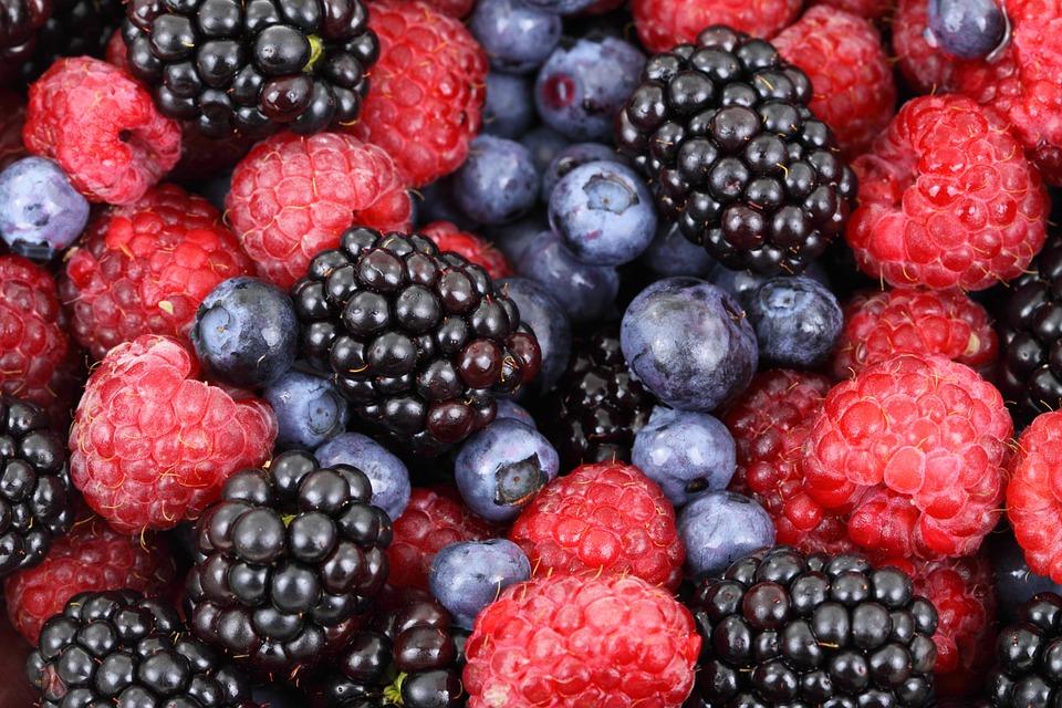 cupful of raspberries = 30mg