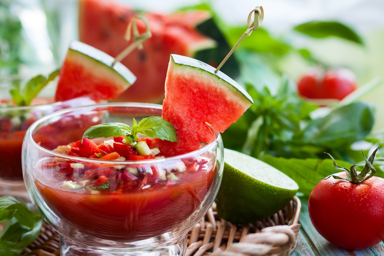 Watermelon & Tomato Gazpacho
