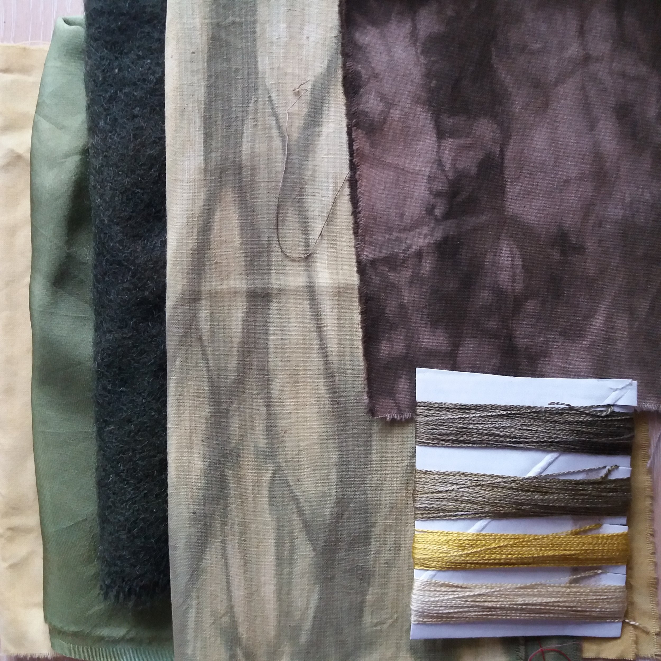 plant dyed fabric and thread 2 Lizzie Godden.jpg