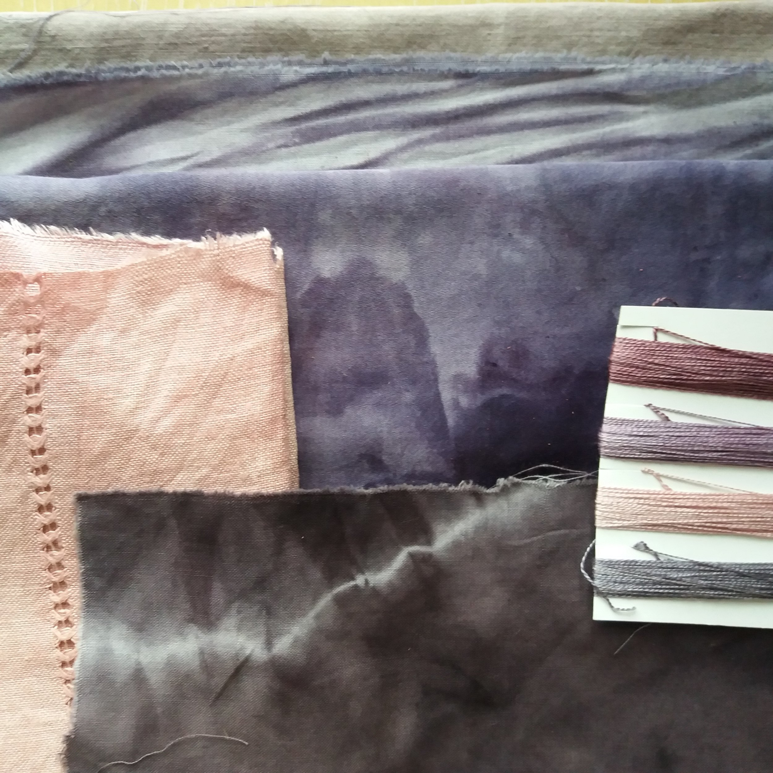 plant dyed fabric and thread Lizzie Godden.jpg