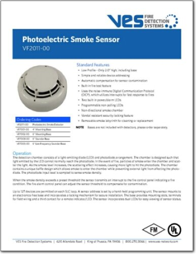 Datasheets Ves Fire Detection Systems