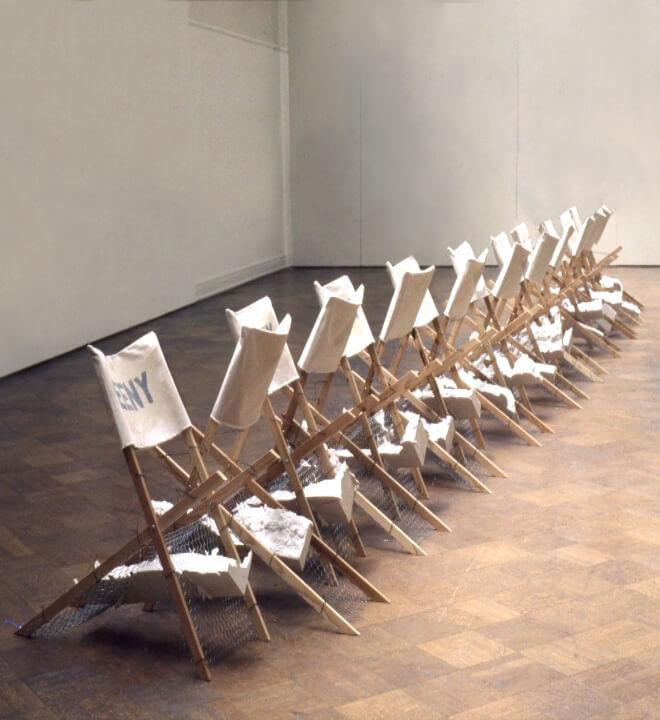 Wayne E. Campbell Eeny Meeny Miny Moe Chair sculpture