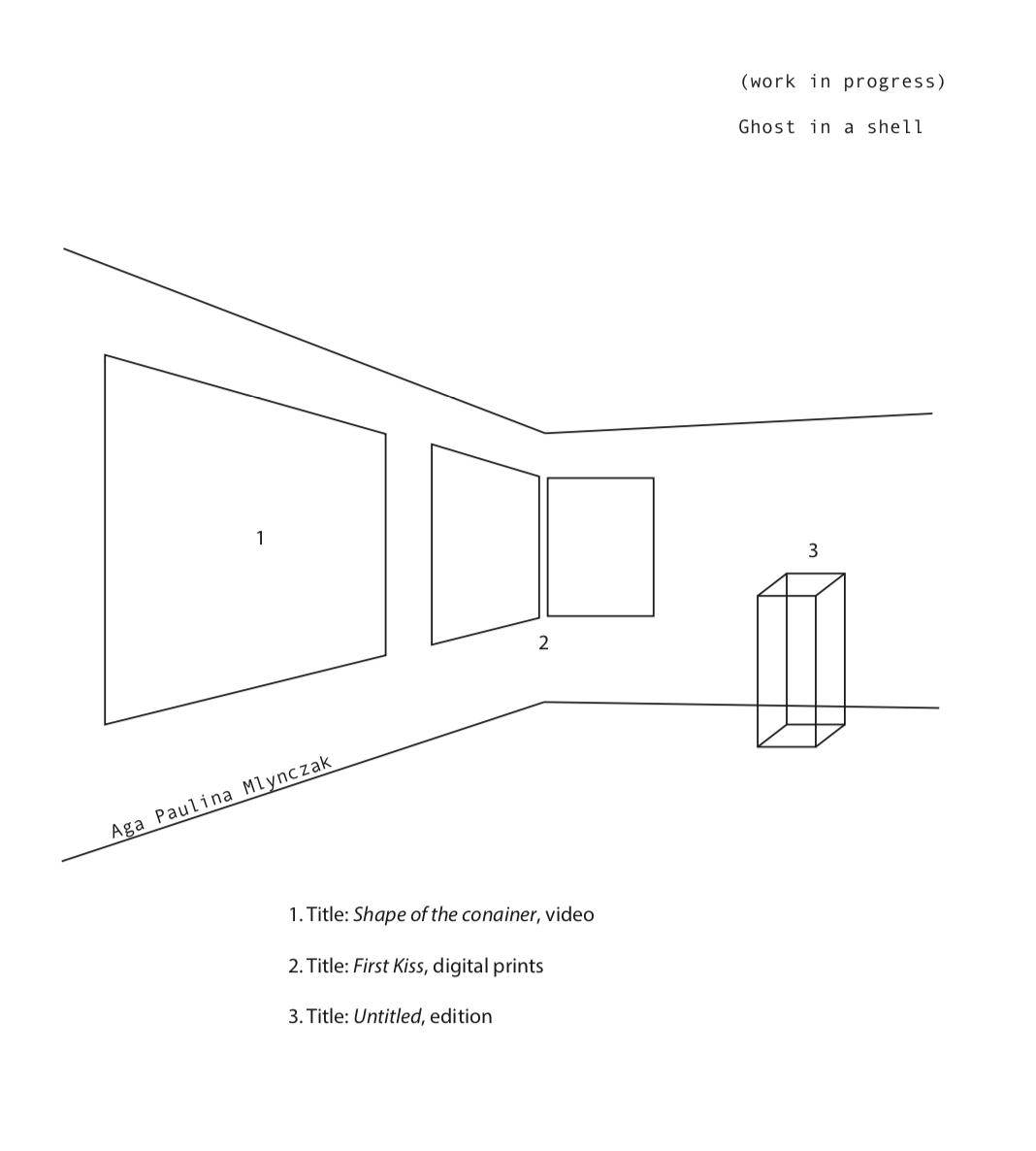 Trongate 103 space - exhibition plan